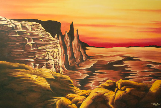 Red Canyon oil painting